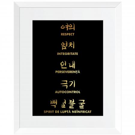 Tablou Principii Taekwondo, arte martiale, auriu stralucitor [1]