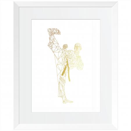 Arte Martiale, Taekwondo, Set 3 tablouri 24x30cm, cadou baiat1