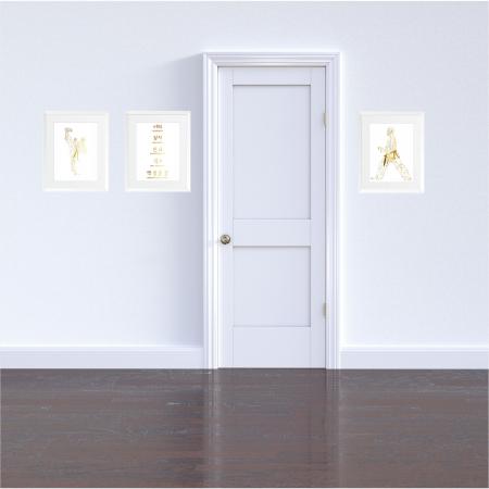 Arte Martiale, Taekwondo, Set 3 tablouri 24x30cm, cadou baiat4