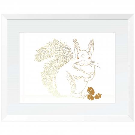 Animalele padurii, set 3 tablouri, Veverita, Vulpea si Iepurele, dimensiune 24x30cm/buc3