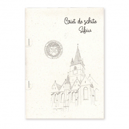 Stand cu 4 seturi de carti postale si 1 set caiet de schite, Sibiu6
