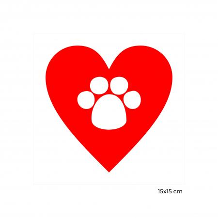 Sticker auto Animal Love, 15x15cm x 2 foi, rezistent la uzura1