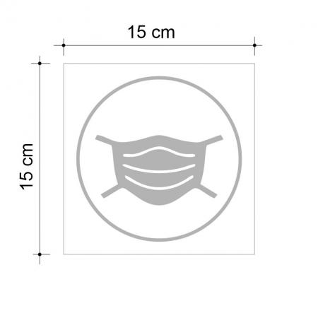 Sticker informativ Poarta Masca, 15x15cm - Copie2