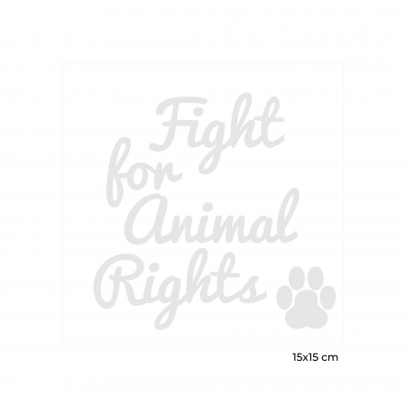 Sticker Auto Animal Rights, 15x15cm x 2 foi, rezistent la uzura7