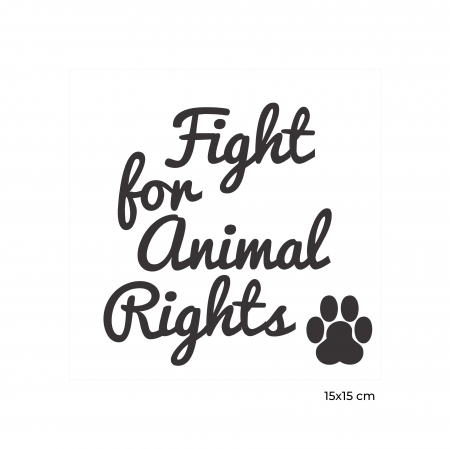 Sticker Auto Animal Rights, 15x15cm x 2 foi, rezistent la uzura [2]