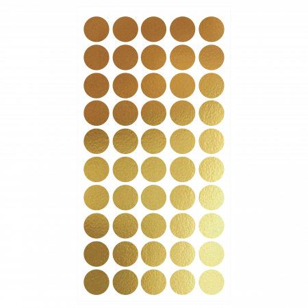 Buline, auriu mat, sticker decupat, pentru interior, 50 bucati/set0