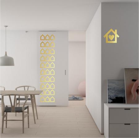 Sticker decorativ decupat, Casute, marca Anais - Beautiful inside, pentru interior, 44 bucati/set [0]