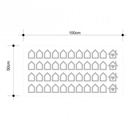 Sticker decorativ decupat, Casute, marca Anais - Beautiful inside, pentru interior, 44 bucati/set [2]
