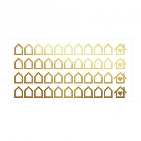 Sticker decorativ decupat, Casute, marca Anais - Beautiful inside, pentru interior, 44 bucati/set [1]