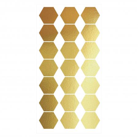 Fagure, auriu mat, sticker decupat, pentru interior, 20 bucati/set0