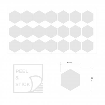 Fagure, auriu mat, sticker decupat, pentru interior, 20 bucati/set3