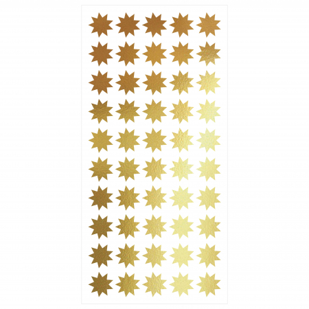 Stele, auriu mat, sticker decupat, pentru interior, 50 bucati/set0