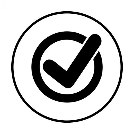 Sticker informativ OK, 15x15cm [0]