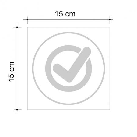 Sticker informativ OK, 15x15cm [2]