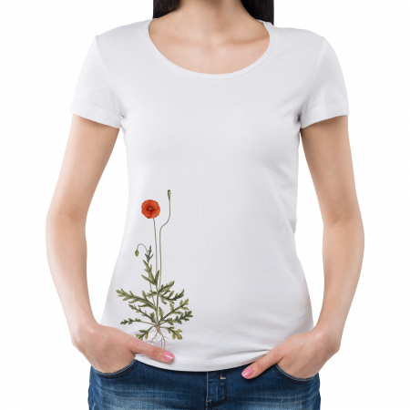 Tricou botanic Mac de câmp [1]