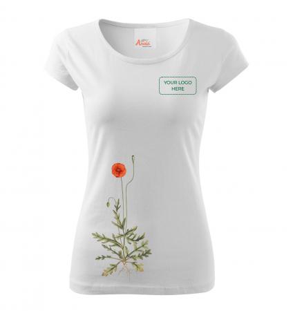 Tricou botanic Mac de câmp [3]