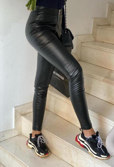 Pantaloni din piele - SNAKE 0