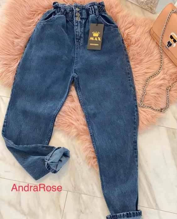 Mom jeans albastru DESCHIS 0