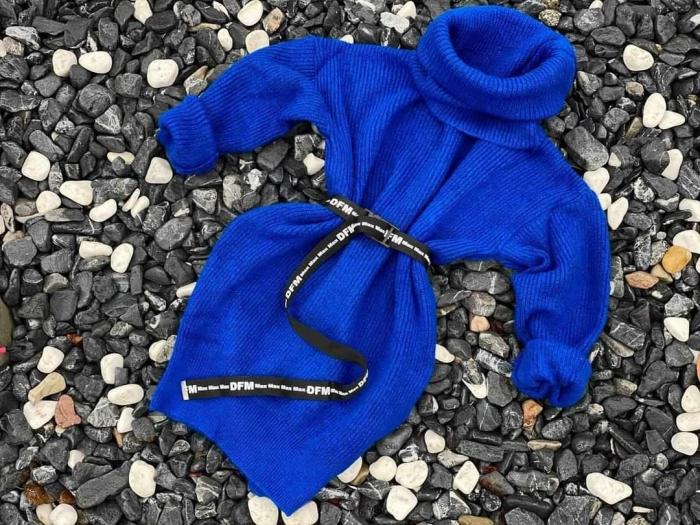 Rochie-pulover MELISSA- ALBASTRU ROYAL 0
