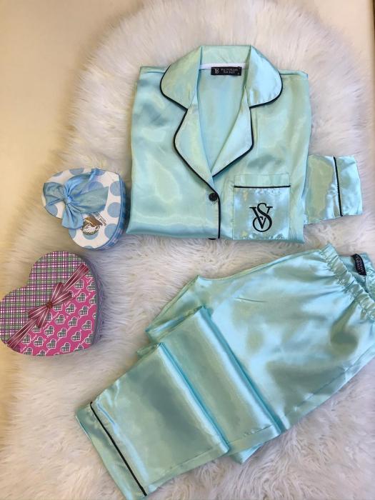 Pijama Luxury - LIGHT BLUE 0