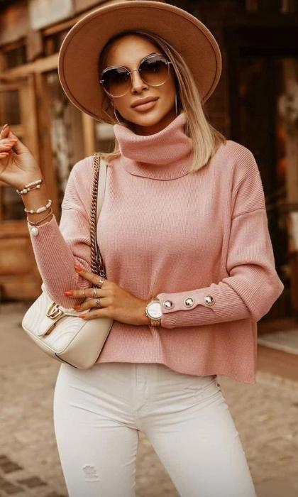 Bluza roz pal BIA 0