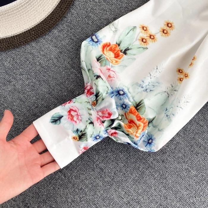Camasa Flowers - WHITE 3