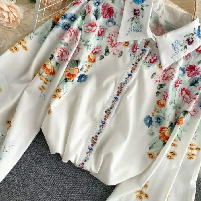 Camasa Flowers - WHITE 1