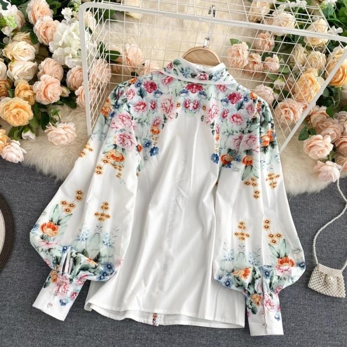 Camasa Flowers - WHITE 2