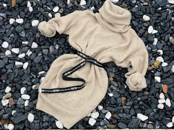 Rochie-pulover MELISSA- CREM 0
