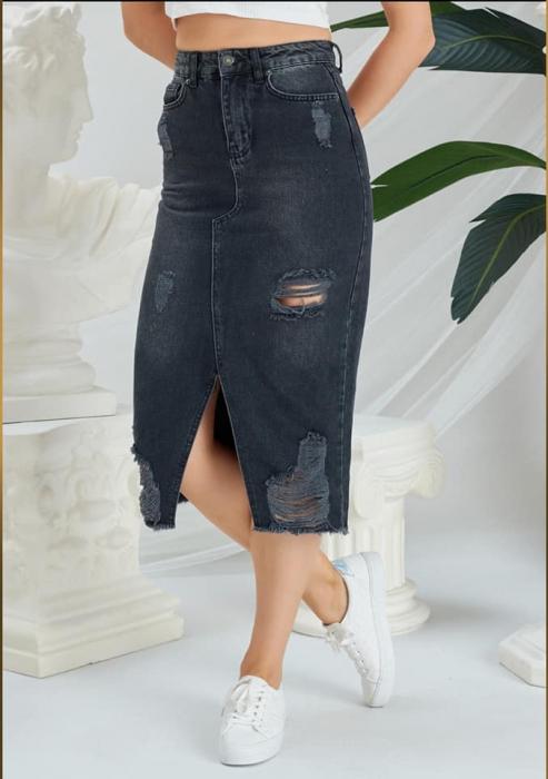 Fusta Jeans Black [1]