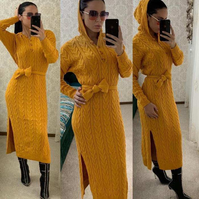 Rochie tricot MELANIE - GALBEN [0]