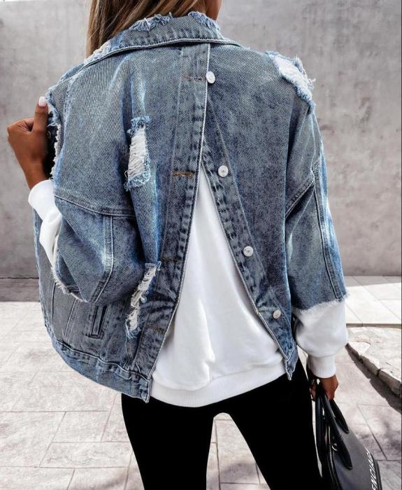 Geaca Jeans V - Albastru 1