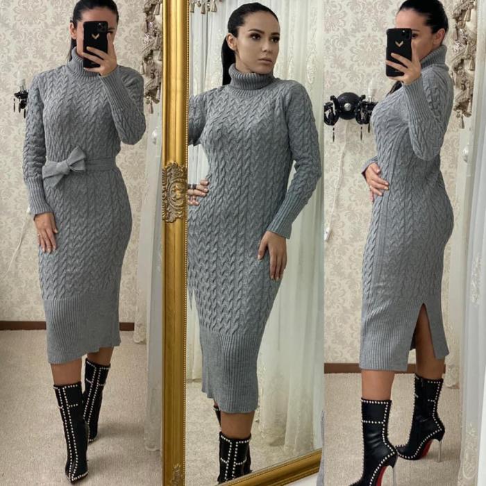 Rochie tricot MELANIE - GRI 0