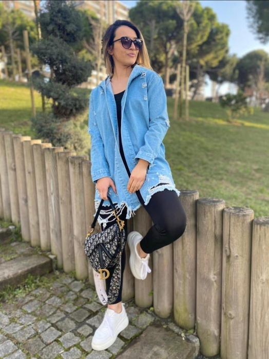 Jacheta Jeans Mimi - Albastru [3]