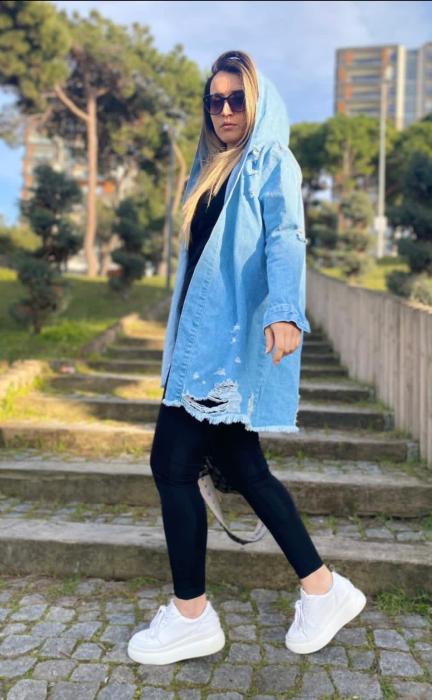 Jacheta Jeans Mimi - Albastru [2]
