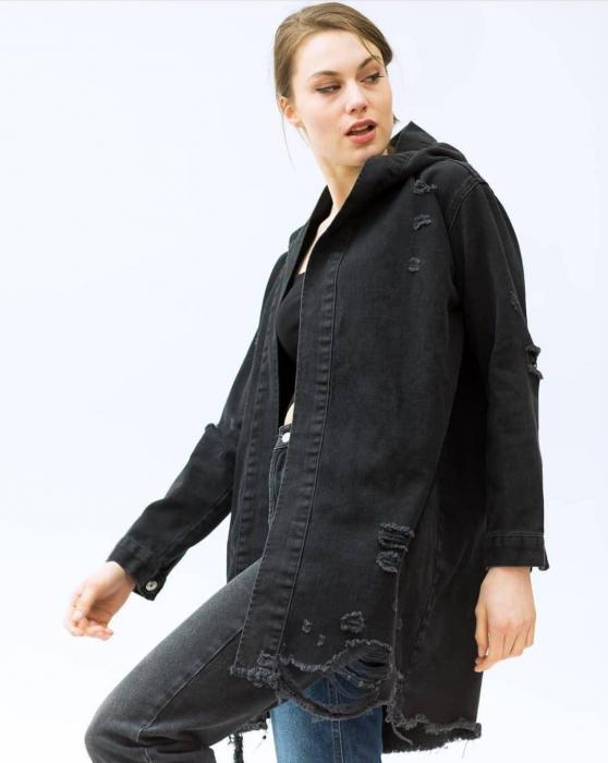 Jacheta Jeans Mimi - Negru 0
