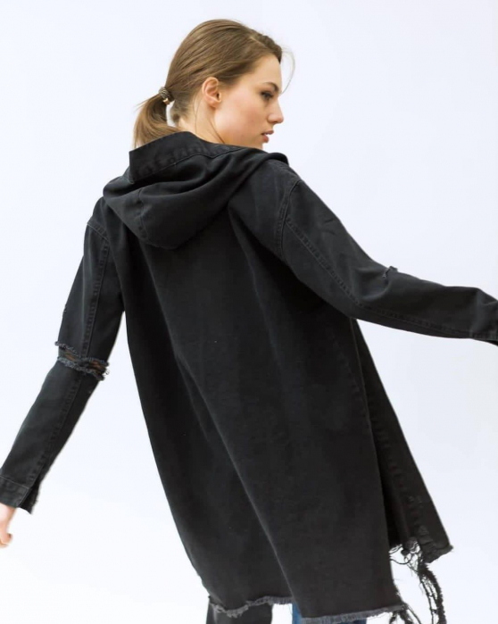Jacheta Jeans Mimi - Negru 1
