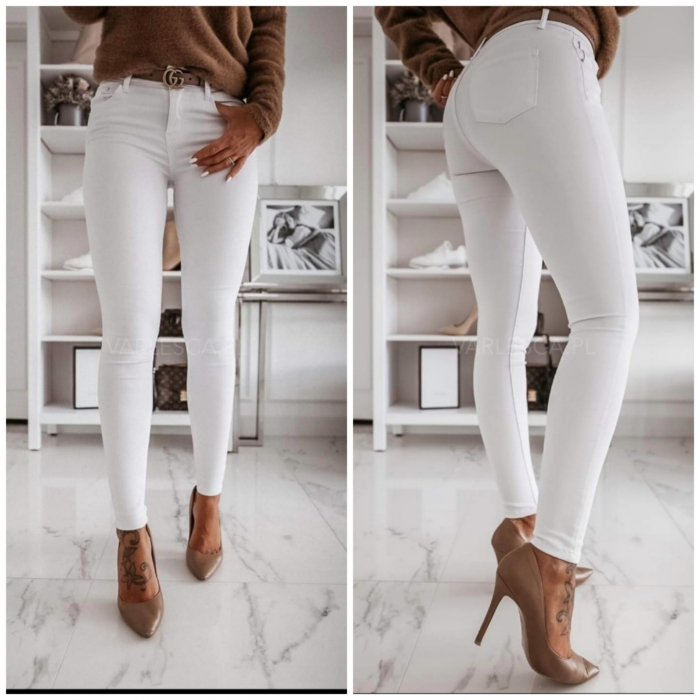 Jeans albi [0]