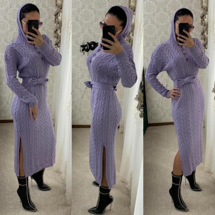 Rochie tricot MELANIE - LILA 0