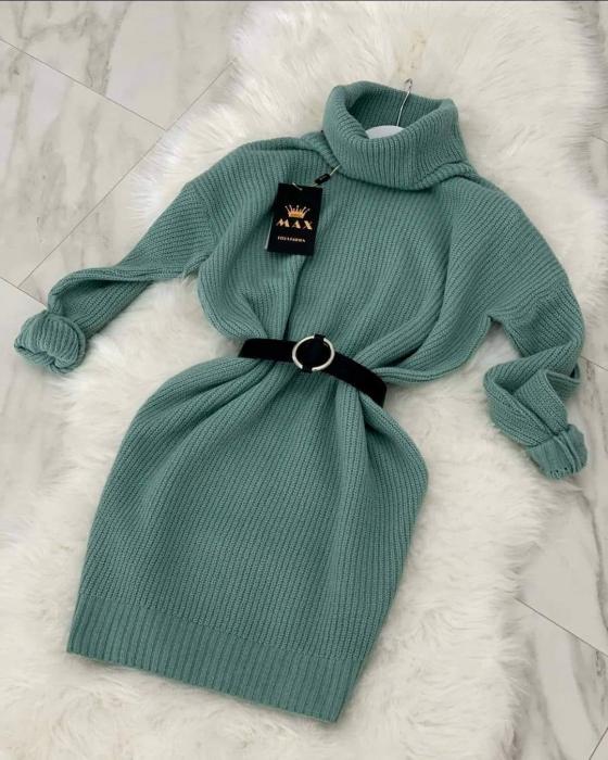 Rochie-pulover MELISSA- MENTA [0]