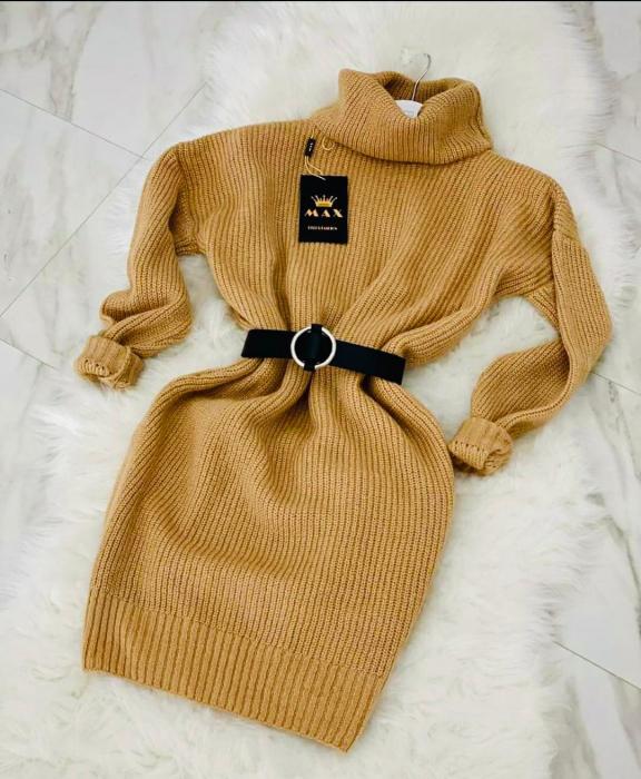 Rochie-pulover MELISSA- GALBEN MUSTAR [0]