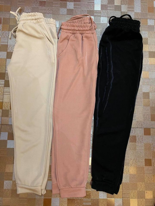 Pantaloni bej SPARKLY 1