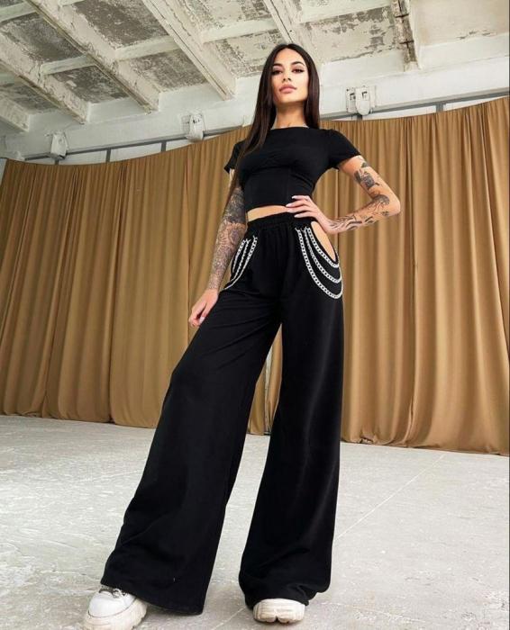 Pantaloni Chic - Negru [0]