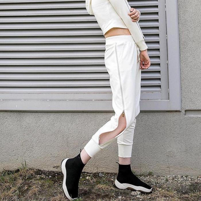 Pantaloni fermoar WHITE 0