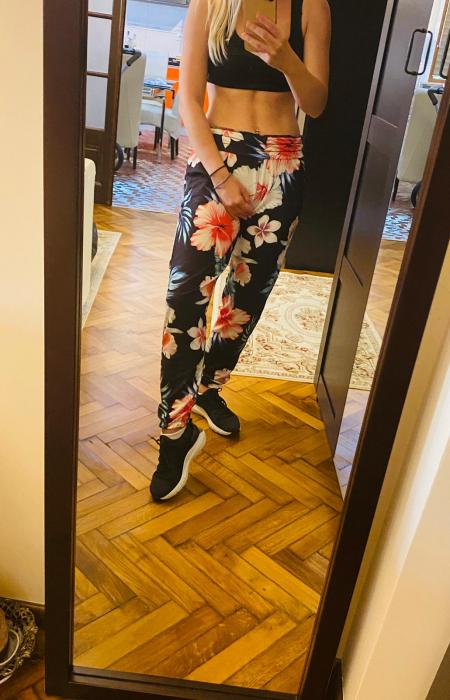 Pantaloni FLOWERS 0