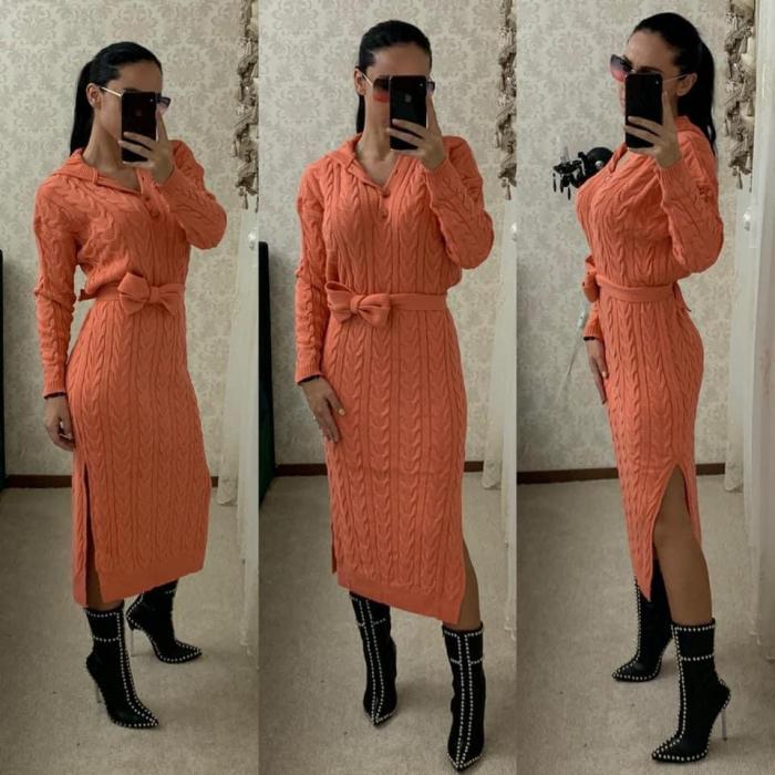 Rochie tricot MELANIE - PEACH [0]