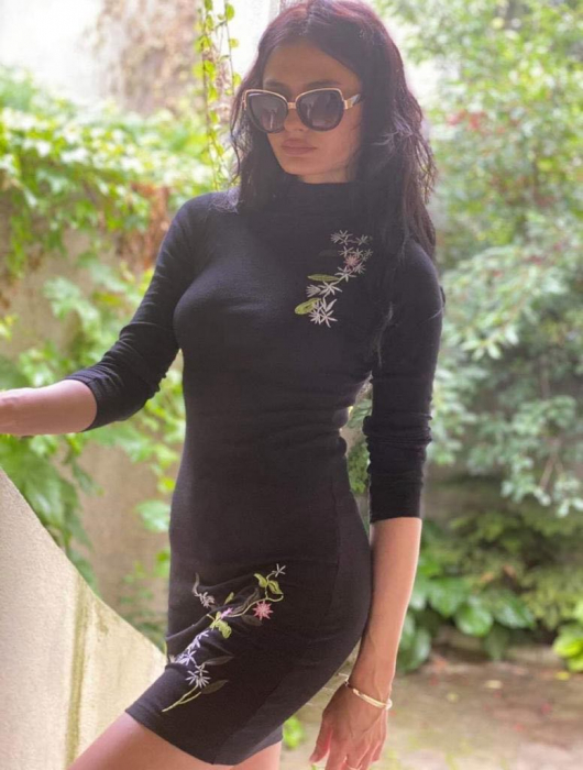 Rochie BLACK FLOWER 0