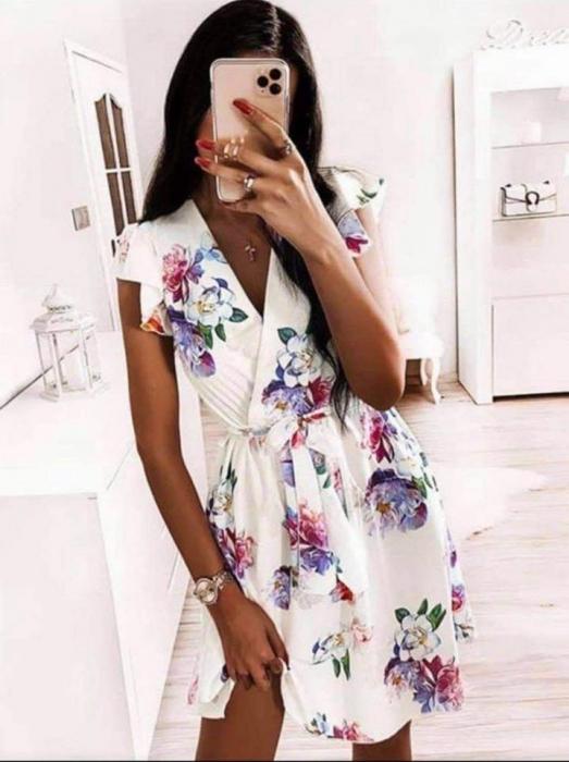 Rochie cu imprimeu floral WHITE 0