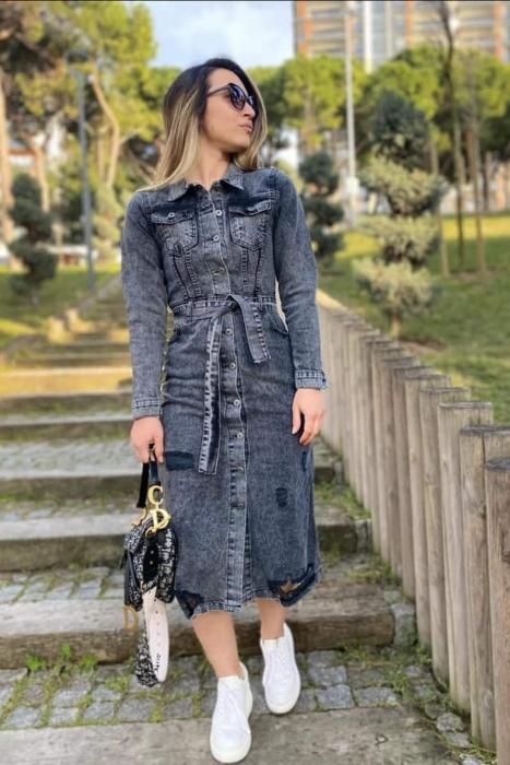 Rochie Jeans BLACK [0]