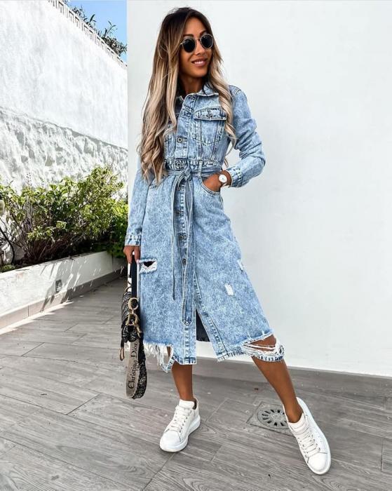 Rochie Jeans BLUE 0